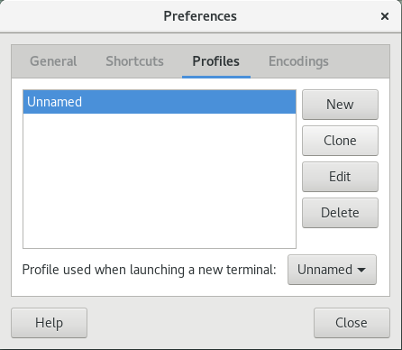 Clone the default profile